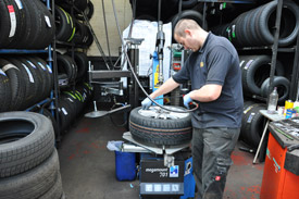 Our tyre fitting & wheel balancing bay